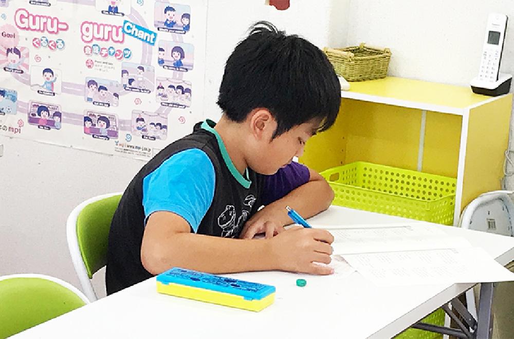 子供の筆記